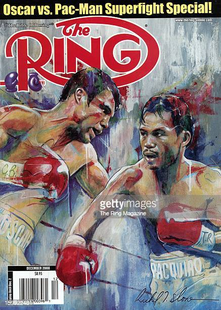 Ring Magazine Cover Oscar De La Hoya and Manny Pacquiao on the cover