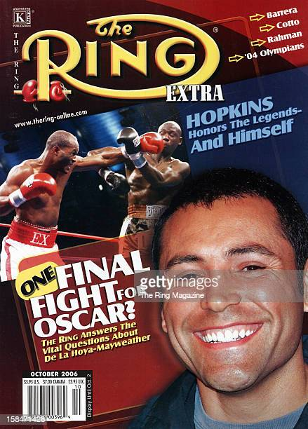 Ring Magazine Cover Oscar De La Hoya Bernard Hopkins and Antonio Tarver on the cover