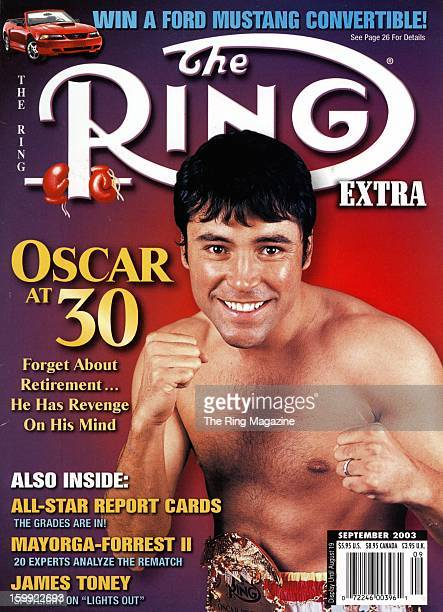 Ring Magazine Cover Oscar De La Hoya on the cover