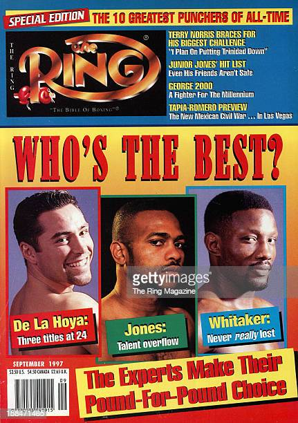 Ring Magazine Cover Oscar De La Hoya Roy Jones and Pernell Whitaker on the cover