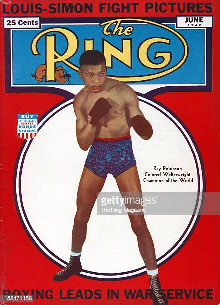 Ring Magazine Cover Ray Robinson on the cover