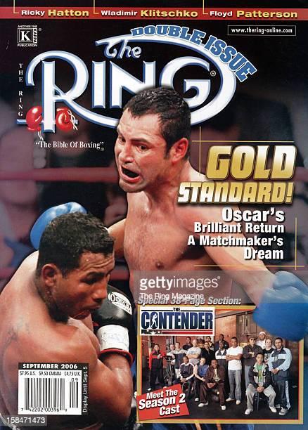 Ring Magazine Cover Ricardo Mayorga and Oscar De La Hoya on the cover