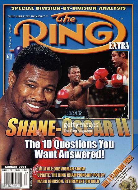 Ring Magazine Cover ShaneOscar II Shane Mosley and Oscar De La Hoya fight on the cover