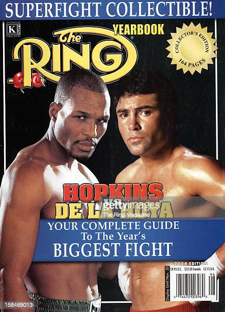 Ring Magazine Cover Super Fight Yearbook Bernard Hopkins and Oscar De La Hoya on the cover