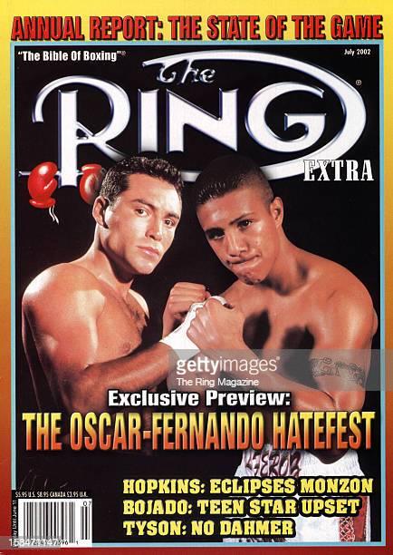 Ring Magazine Cover The OscarFernando Hate fest Oscar De La Hoya and Fernando Guerrero on the cover