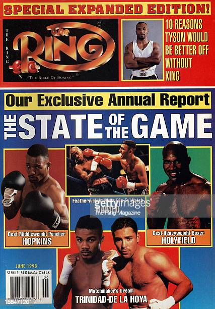 Ring Magazine Cover The State of the Game Bernard Hopkins Felix TrinidadOscar De La Hoya Evander Holyfield on the cover