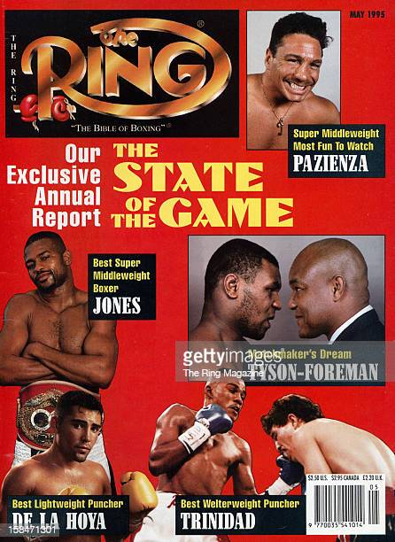 Ring Magazine Cover The State of the Game Roy Jones Oscar De La Hoya Mike Tyson George Foreman Felix Trinidad on the cover