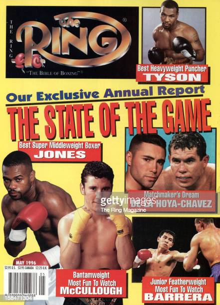 Ring Magazine Cover The State of the Game Roy Jones Oscar De La Hoya Mike Tyson on the cover