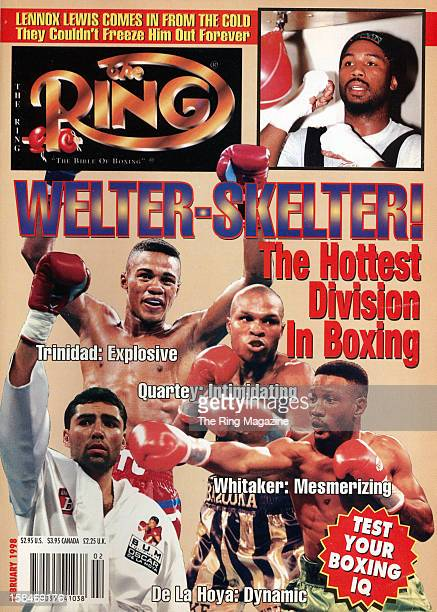 Ring Magazine Cover WelterSkelter Felix Trinidad Pernell Whitaker Oscar De La Hoya on the cover