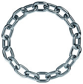 Ring of chrome steel chain