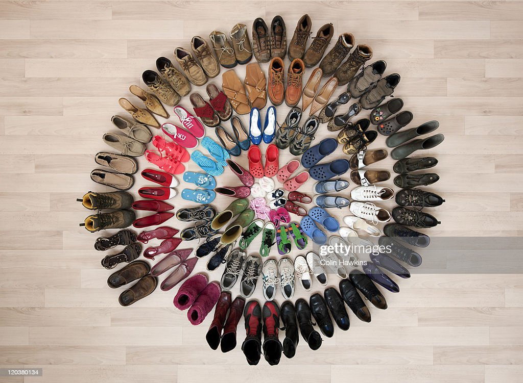 ring of family shoes : Stock Photo