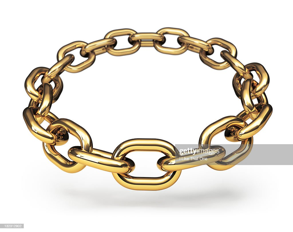 Ring of gold chain links : Stock Photo