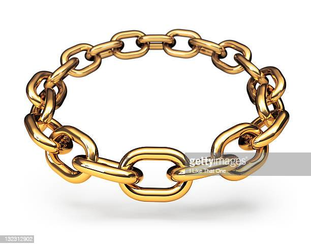Ring of gold chain links