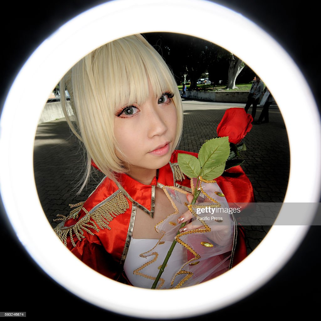 GARDENS SYDNEY NSW AUSTRALIA A ringflash view of cosplayers seen during the SMASH Convention 2016 in Sydney Australia SMASH is the biggest pop...