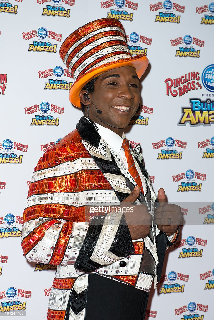 Ringmaster Andre McClain attends the Ringling Bros. and Barnum & Bailey 'Build To Amaze!' Opening Night at Barclays Center on March 21, 2013 in the Brooklyn borough of New York City.