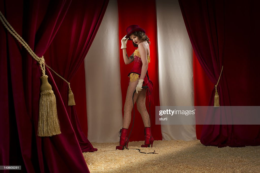 ringmaster burlesque : Stock Photo