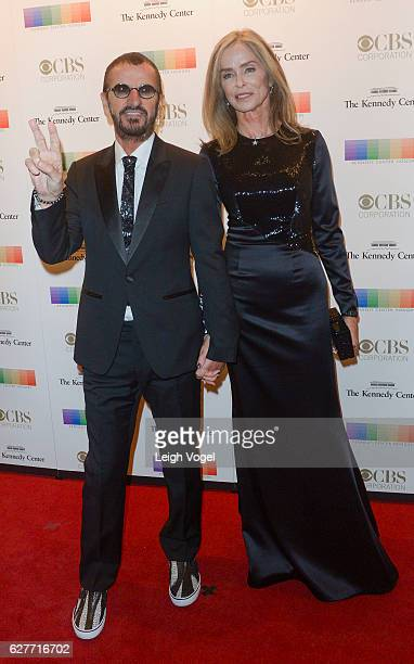 Ringo Starr and Barbara Bach arrive at the 39th Annual Kennedy Center Honors at The Kennedy Center on December 4 2016 in Washington DC