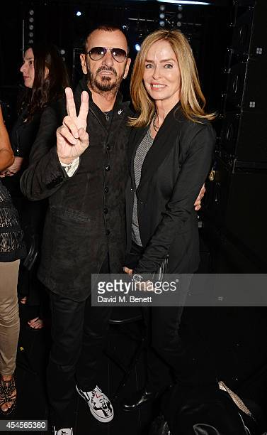 Ringo Starr and Barbara Bach attend as John Varvatos launch their first European store in London on September 3 2014 in London England
