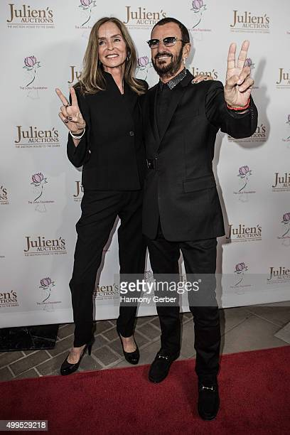 Ringo Starr and Barbara Bach attend Julien's Auctions Gallery on December 1 2015 in Beverly Hills California