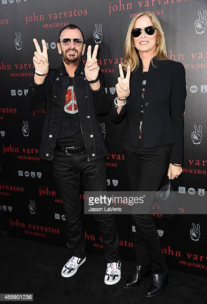 Ringo Starr and Barbara Bach attend the International Peace Day celebration at John Varvatos on September 21 2014 in Los Angeles California