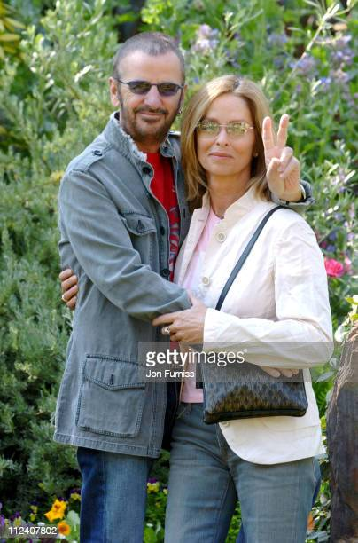 Ringo Starr and Barbara Bach during RHS Chelsea Flower Show 2004 at Royal Hospital Chelsea in London Great Britain