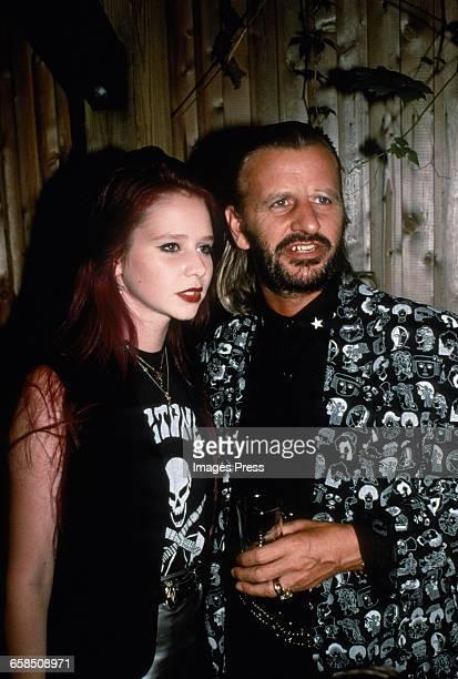 Ringo Starr and daughter Lee Starkey circa 1989 in New York City