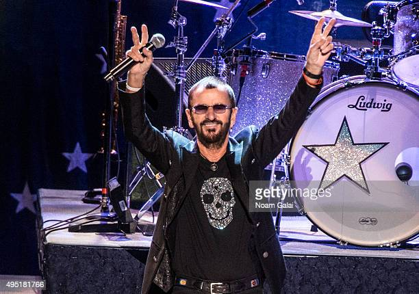 Ringo Starr and His AllStarr Band perform at Kings Theatre on October 31 2015 in the Brooklyn Borough of New York City