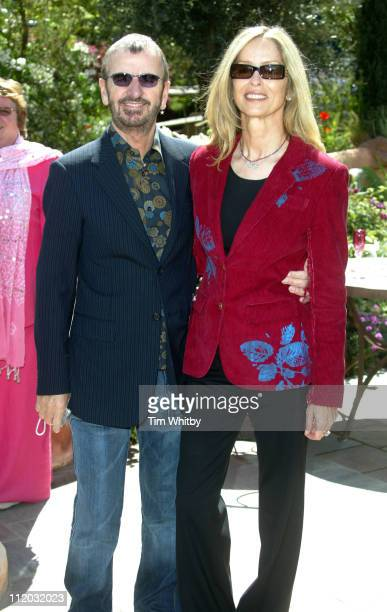 Ringo Starr and wife Barbara Bach during Chelsea Flower Show 2005 at Royal Hospital Chelsea in London Great Britain