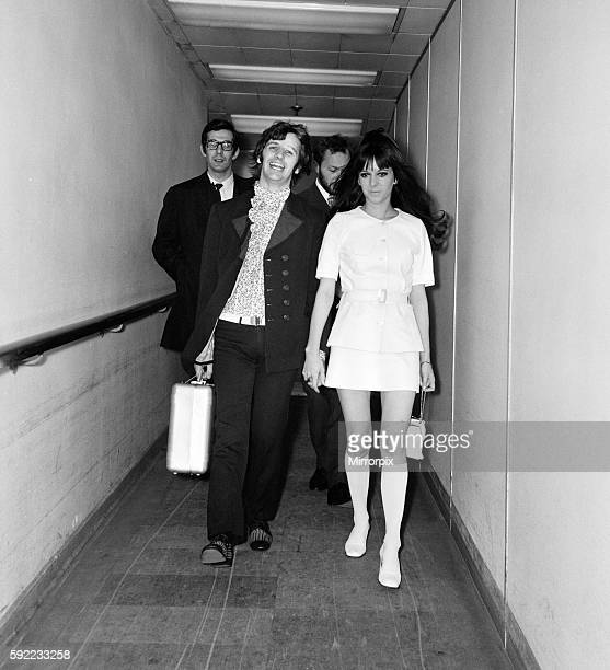 Ringo Starr and wife Maureen Starkey on their way to Nice to attend the 21st Cannes Film Festival in France pictured at London Heathrow Airport...