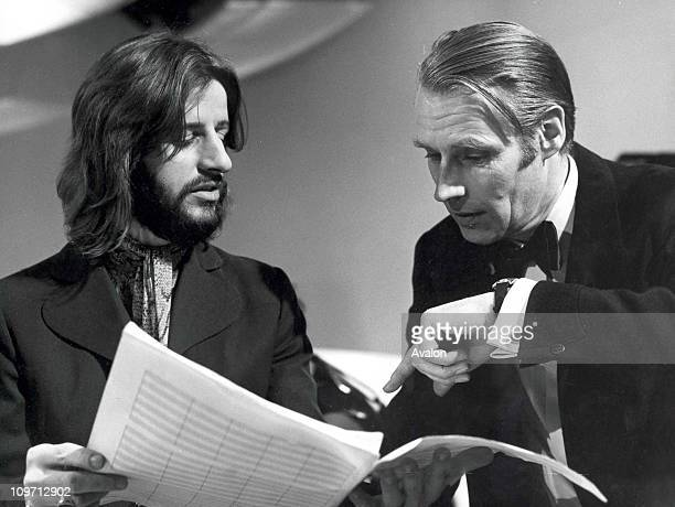 Ringo Starr appearing with George Martin on Yorkshire TV Production 'With a Little Help from My Friends' presented by George Martin