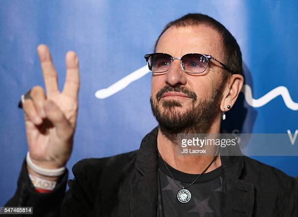 Ringo Starr attends the 10th anniversary celebration of 'The Beatles LOVE by Cirque du Soleil' at The Mirage Hotel Casino on July 14 2016 in Las...
