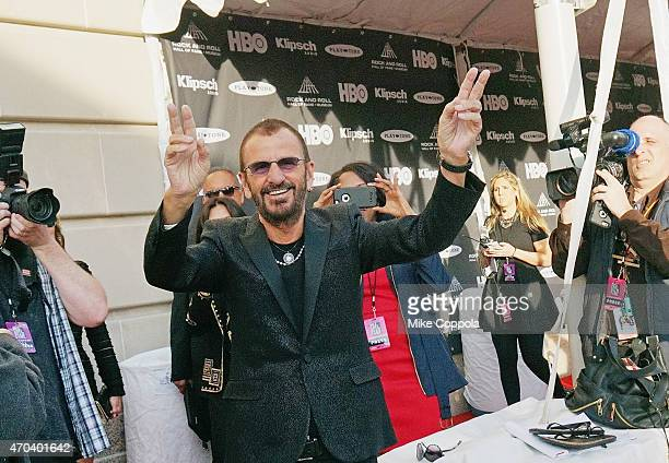 Ringo Starr attends the 30th Annual Rock And Roll Hall Of Fame Induction Ceremony at Public Hall on April 18 2015 in Cleveland Ohio