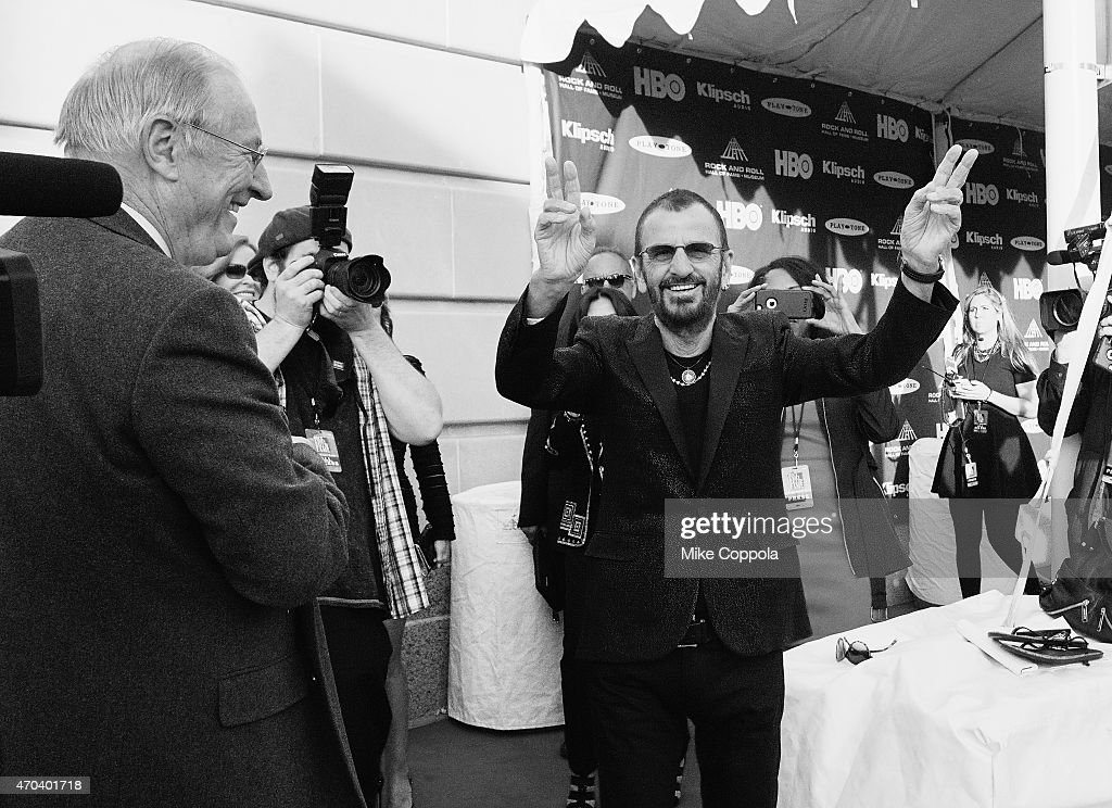 Ringo Starr attends the 30th Annual Rock And Roll Hall Of Fame Induction Ceremony at Public Hall on April 18, 2015 in Cleveland, Ohio.
