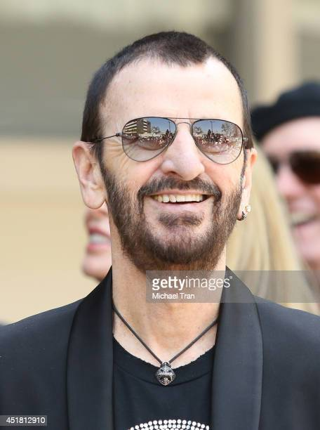 Ringo Starr attends the Ringo Starr and John Varvatos collaboration announcement and birthday celebration event held at Capitol Records Studio on...