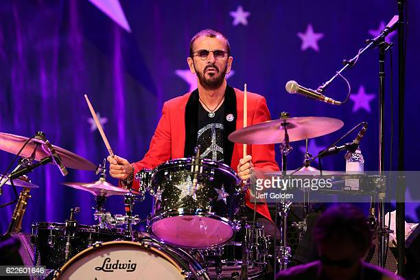 Ringo Starr of Ringo Starr His All Starr Band performs at Thousand Oaks Civic Arts Plaza on November 11 2016 in Thousand Oaks California