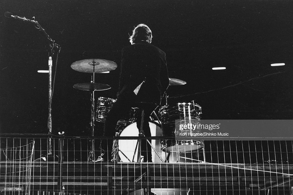 Ringo Starr of The Beatles performs during the last concert on their final tour at Candlestick Park San Francisco California August 29 1966