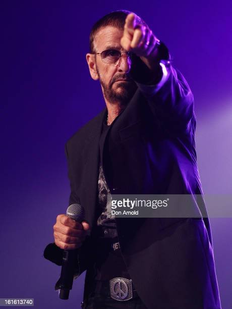 Ringo Starr performs a solo show live at the Hordern Pavilion on February 13 2013 in Sydney Australia