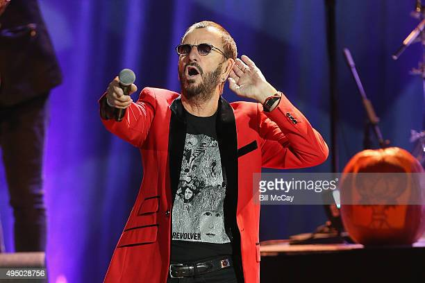 Ringo Starr performs in concert with Ringo Starr His AllStar Band at the Tower Theater October 30 2015 in Upper Darby Pennsylvania