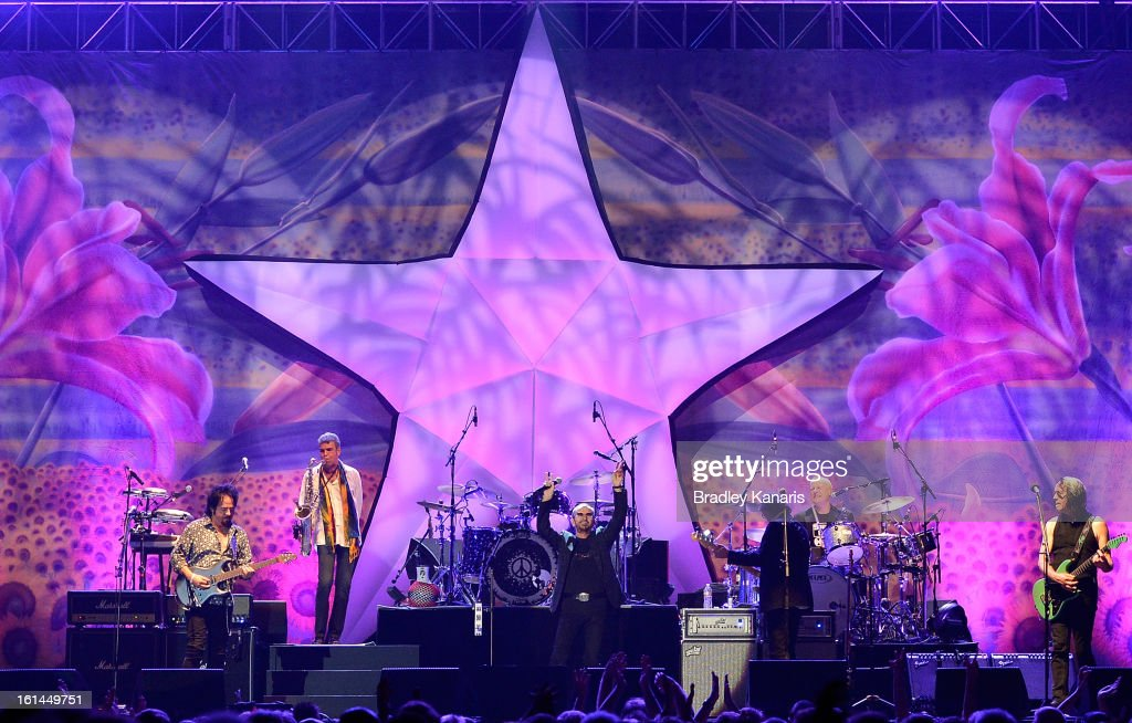 <a gi-track='captionPersonalityLinkClicked' href=/galleries/search?phrase=Ringo+Starr&family=editorial&specificpeople=92463 ng-click='$event.stopPropagation()'>Ringo Starr</a> performs live on stage at the Brisbane Convention & Exhibition Centre on February 11, 2013 in Brisbane, Australia.
