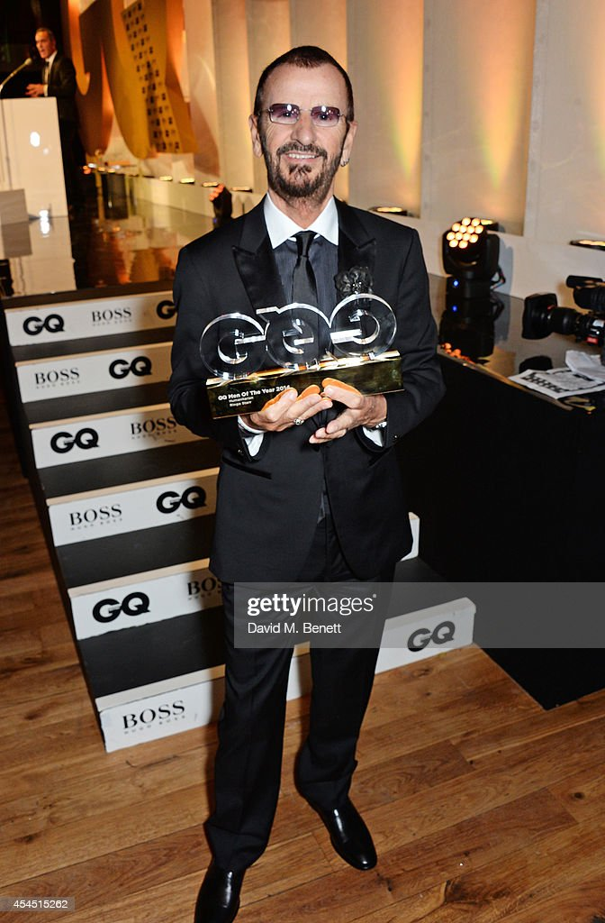<a gi-track='captionPersonalityLinkClicked' href=/galleries/search?phrase=Ringo+Starr&family=editorial&specificpeople=92463 ng-click='$event.stopPropagation()'>Ringo Starr</a>, winner of the Humanitarian of the Year award, attends the GQ Men Of The Year awards in association with Hugo Boss at The Royal Opera House on September 2, 2014 in London, England.
