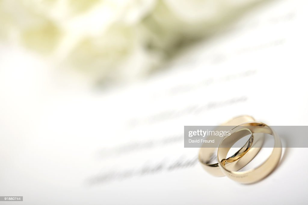 Rings And Vows Stock Photo