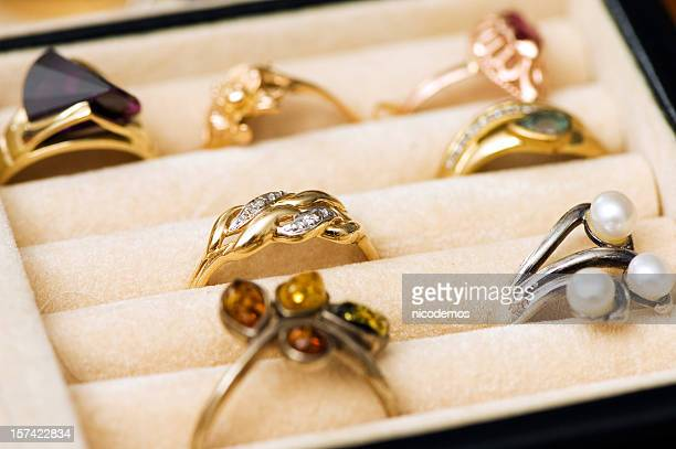 Rings in a Jewelry Box