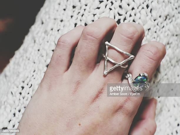 Rings On Womans Hand