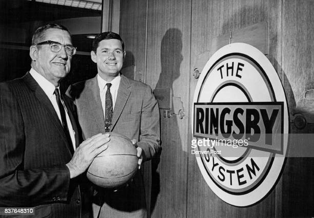 J W Ringsby Left And Son Donald Are New Owners Of Denver's Pro Basketball Franchise Trucking firm executives buy 67 per cent of American Basketball...