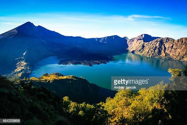 Rinjani crater lake