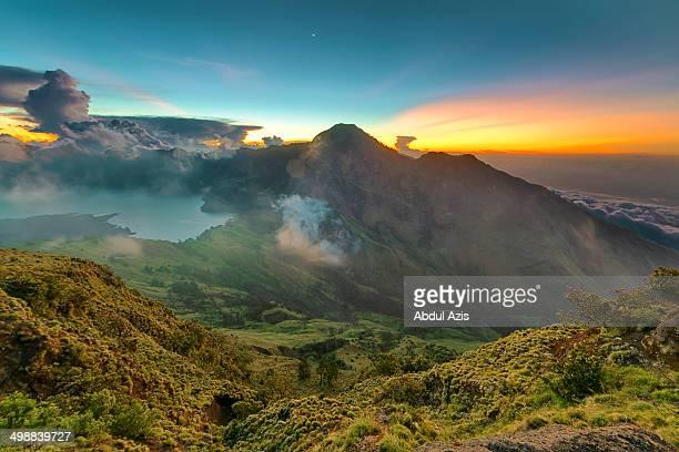 Rinjani Sunset from Plawangan Sembalun