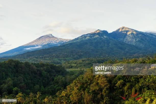 Rinjani volcano mountain peak, Lombok island, Indonesia