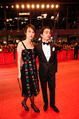 Rinko Kikuchi and her husband Shota Sometani attend the 'Nobody Wants the Night' premiere during the 65th Berlinale International Film Festival on...