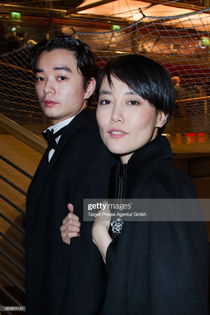Rinko Kikuchi and her husband Shota Sometani attend the opening party during the 65th Berlinale International Film Festival at Berlinale Palace on...