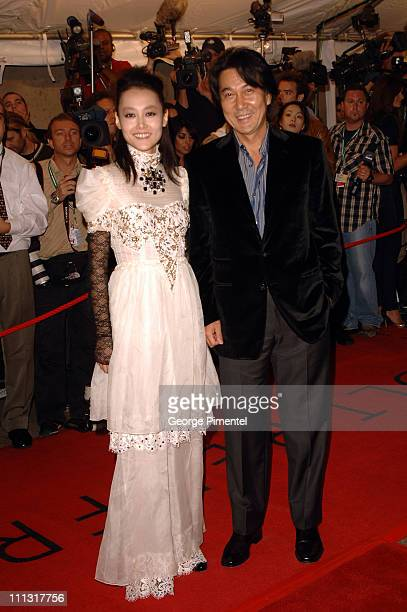 Rinko Kikuchi and Koji Yakusho during 31st Annual Toronto International Film Festival 'Babel' Premiere Arrivals at Roy Thompson Hall in Toronto...